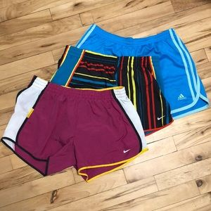 3 pair of athletic shorts. Size M
